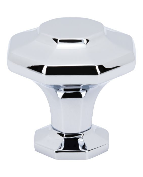 Palazzo Knob 1 3/8 Inch Polished Chrome
