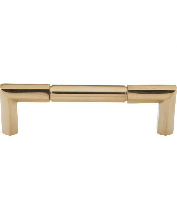 Identity Pull 3 3/4 Inch (c-c) Unlacquered Brass