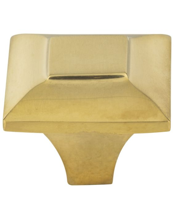 Alston Knob 1 5/16 Inch Unlacquered Brass