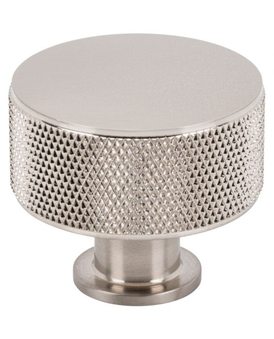 Beliza Cylinder Knurled Knob 1 3/8 Inch Brushed Satin Nickel