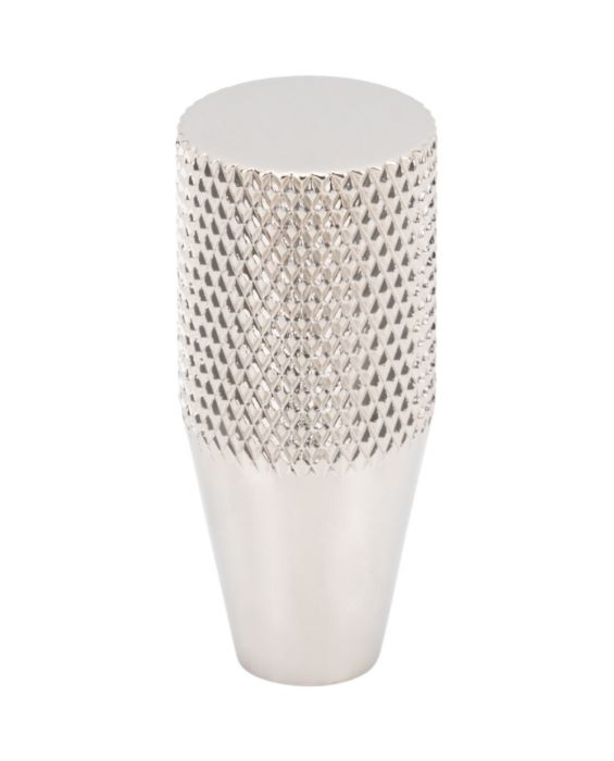 Beliza Conical Knurled Knob 1/2 Inch Polished Nickel