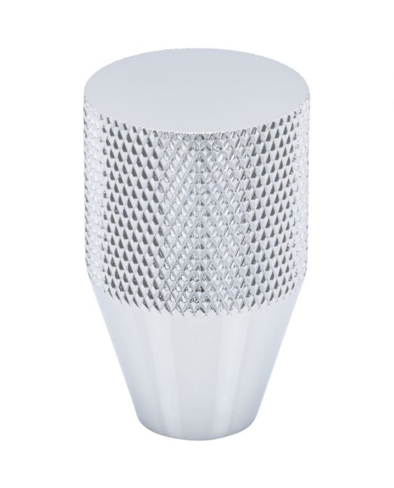 Beliza Conical Knurled Knob 13/16 Inch Polished Chrome