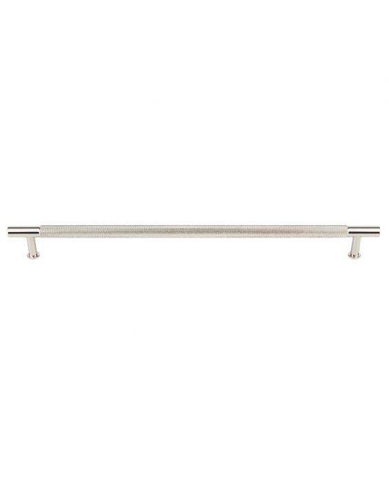 Beliza Knurled Bar Pull 12 Inch (c-c) Polished Nickel