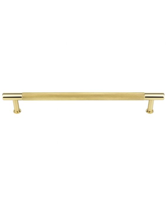 Beliza Knurled Appliance Pull 18 Inch (c-c) Polished Brass
