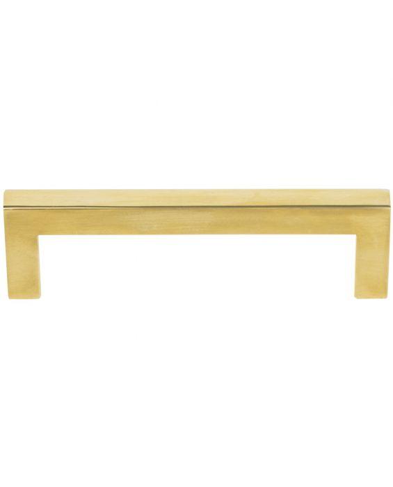 Simplicity Bar Pull 3 3/4 Inch (c-c) Unlacquered Brass