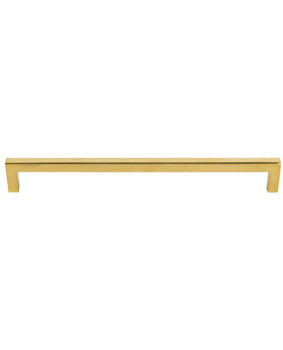Simplicity Bar Pull 9 Inch (c-c) Unlacquered Brass