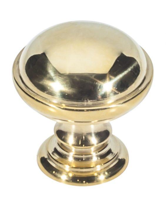 Ronan Knob 1 1/2 Inch Unlacquered Brass
