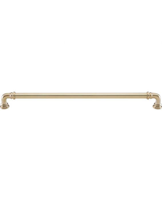 Ronan Pull 12 Inch (c-c) Unlacquered Brass