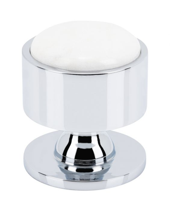 Firesky Calacatta Gold Knob 1 3/8 Inch Polished Chrome Base