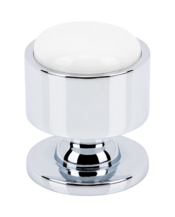 Firesky Calacatta Gold Knob 1 1/8 Inch Polished Chrome Base