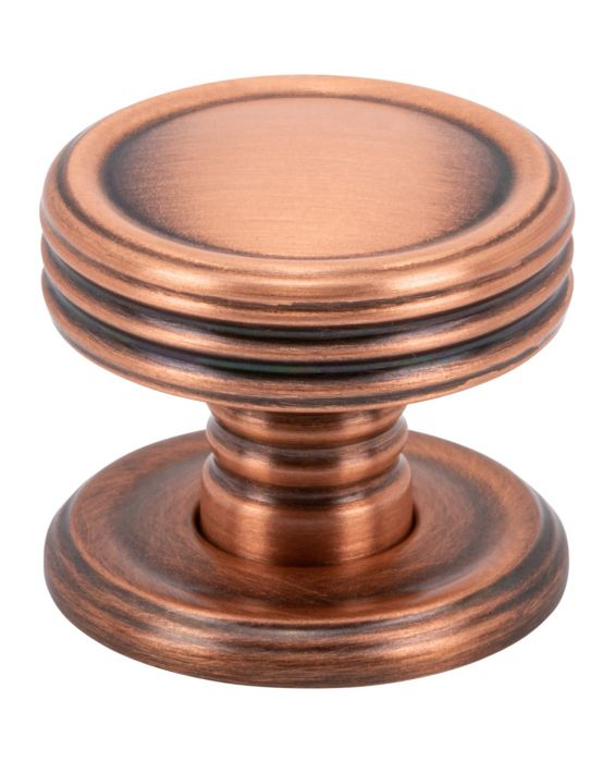 Divina Knob 1 Inch Brushed Copper