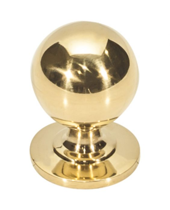Divina Round Smooth Knob 1 Inch Unlacquered Brass