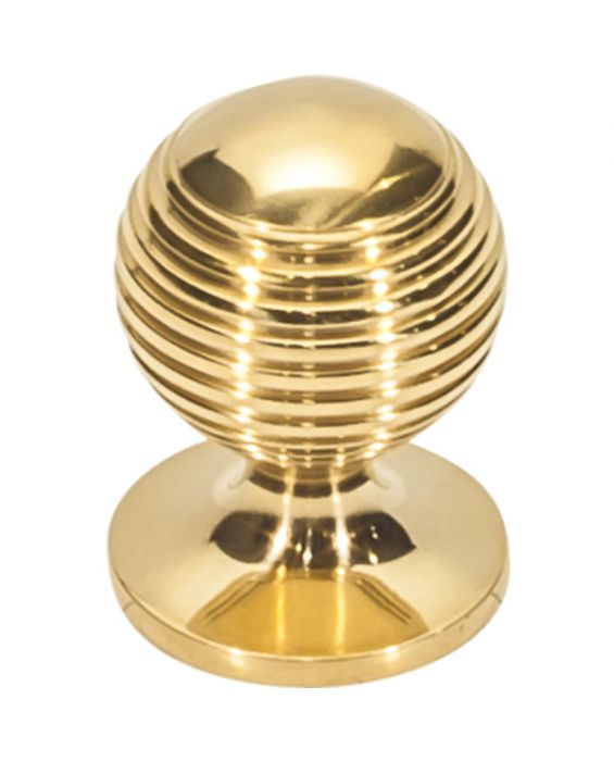 Divina Round Rimmed Knob 1 Inch Unlacquered Brass