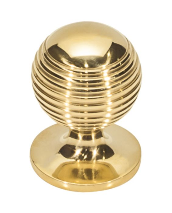 Divina Round Rimmed Knob 1 1/8 Inch Unlacquered Brass