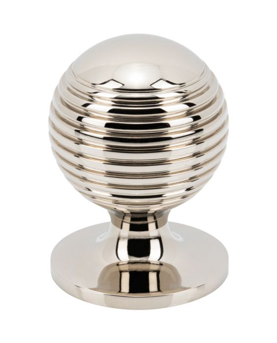 Divina Round Rimmed Knob 1 1/4 Inch Polished Nickel