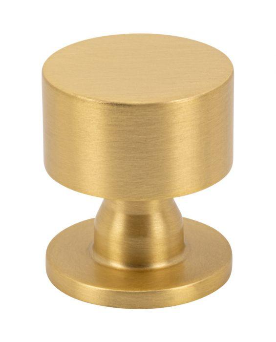 Dante Knob 1 1/8 Inch Satin Brass