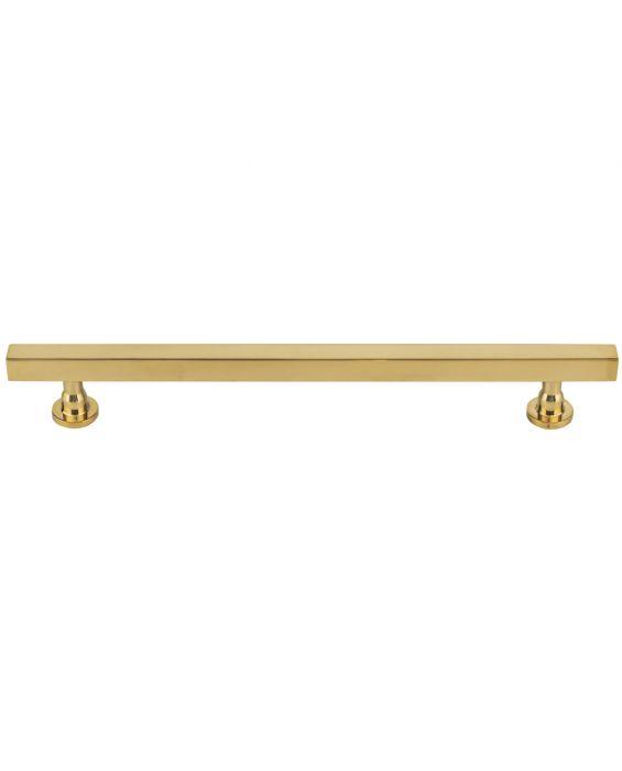 Dante Pull 7 9/16 Inch (c-c) Unlacquered Brass