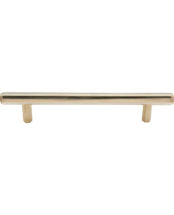 Insignia Pull 5 1/16 Inch (c-c) Unlacquered Brass