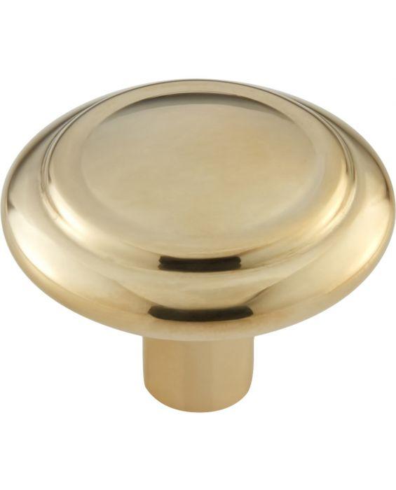 Cala Knob 1 5/8 Inch Unlacquered Brass