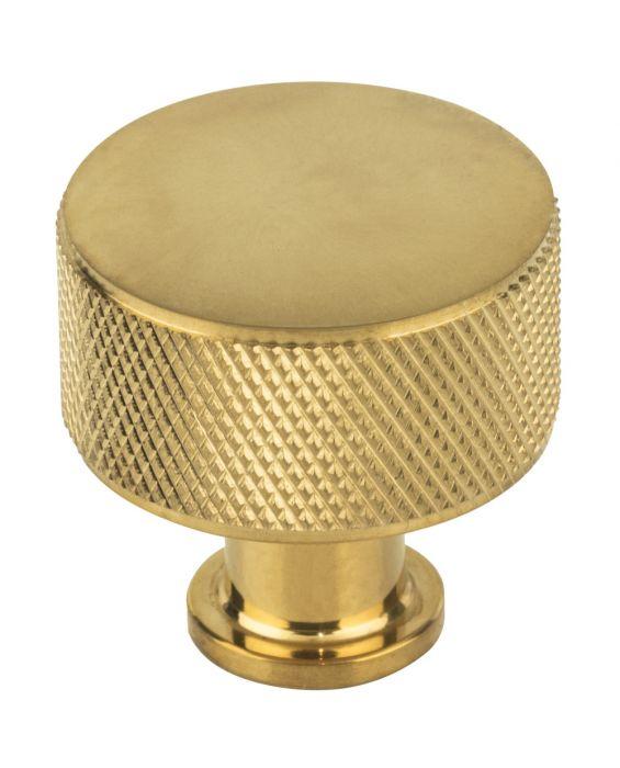 Beliza Cylinder Knurled Knob 1 1/8 Inch Unlacquered Brass