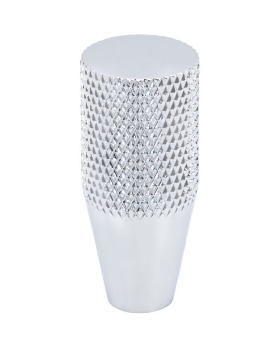 Beliza Conical Knurled Knob 1/2 Inch Polished Chrome