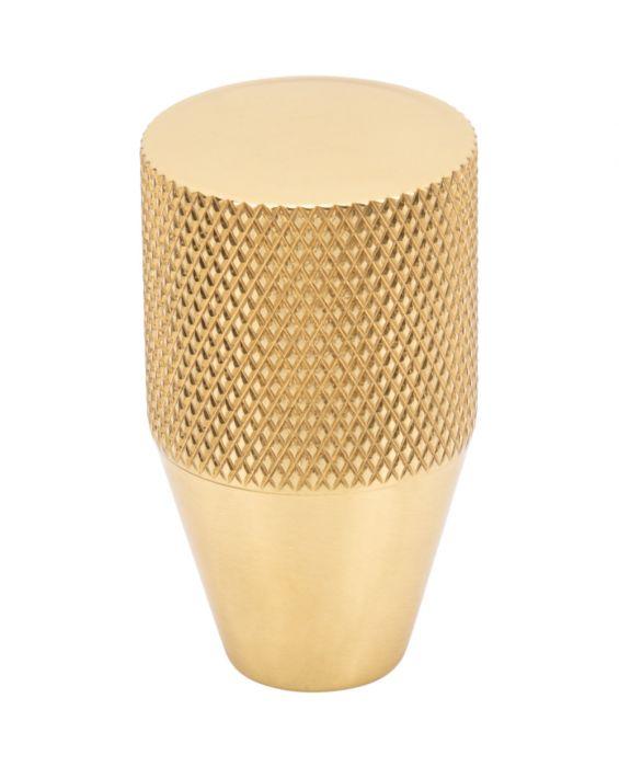 Beliza Conical Knurled Knob 3/4 Inch Polished Brass