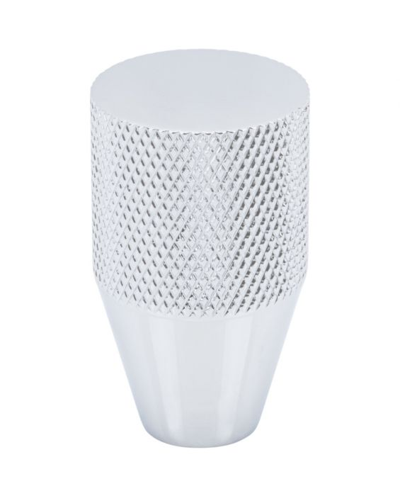 Beliza Conical Knurled Knob 3/4 Inch Polished Chrome