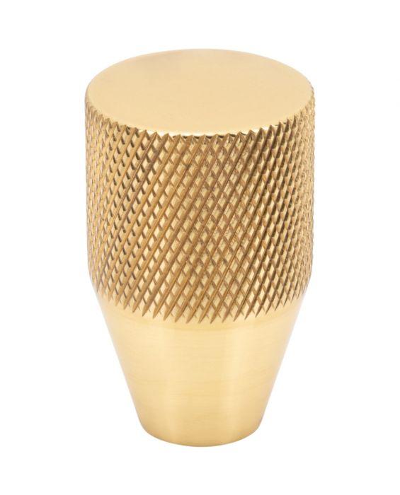 Beliza Conical Knurled Knob 13/16 Inch Polished Brass