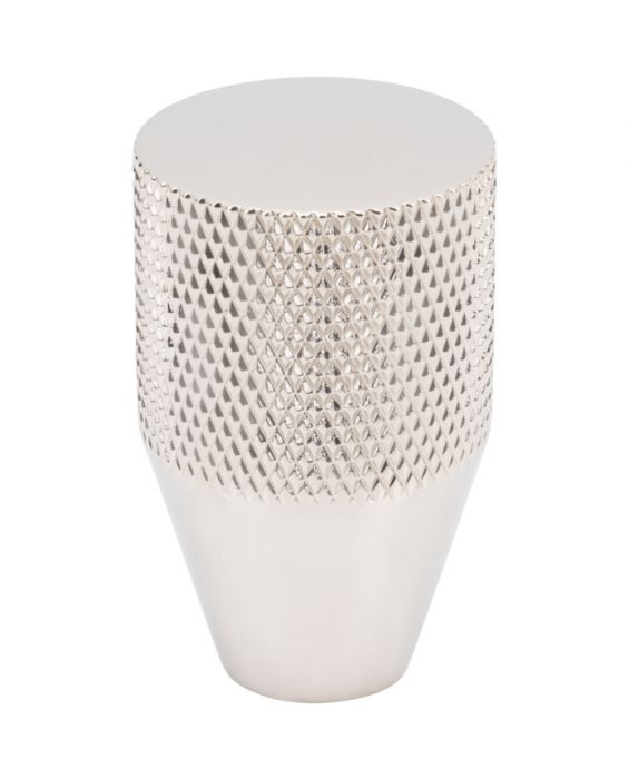 Beliza Conical Knurled Knob 13/16 Inch Polished Nickel