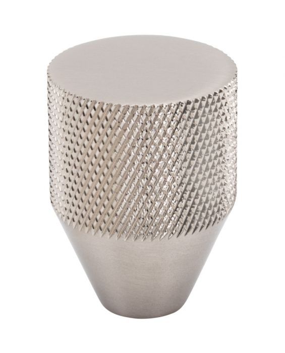 Beliza Conical Knurled Knob 1 Inch Brushed Satin Nickel