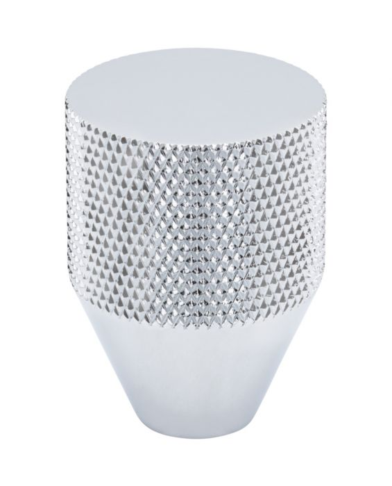 Beliza Conical Knurled Knob 1 Inch Polished Chrome