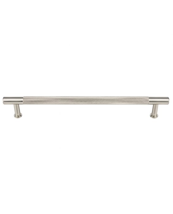 Beliza Knurled Appliance Pull 12 Inch (c-c) Brushed Satin Nickel