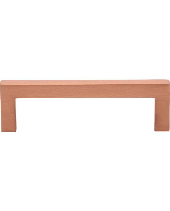 Simplicity Bar Pull 3 3/4 Inch (c-c) Satin Copper