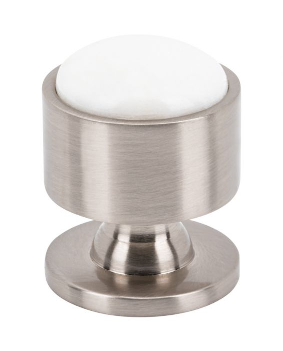 Firesky Calacatta Gold Knob 1 1/8 Inch Brushed Satin Nickel Base