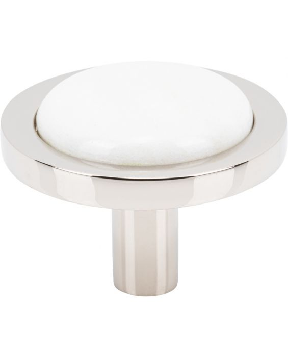 Firesky Calacatta Gold Knob 1 9/16 Inch Polished Nickel Base