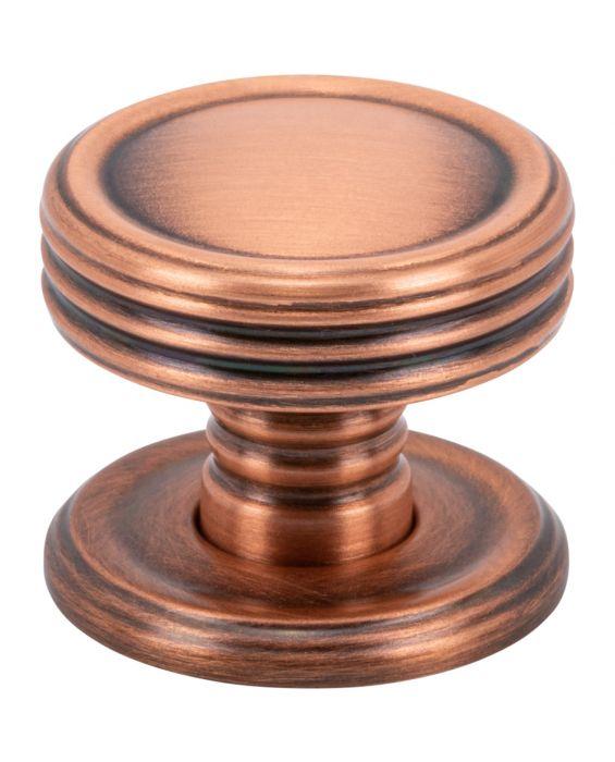 Divina Knob 1 Inch Brushed Copper