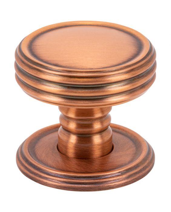 Divina Knob 1 1/4 Inch Brushed Copper