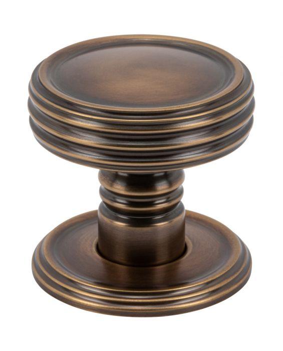 Divina Knob 1 1/2 Inch Aged Brass