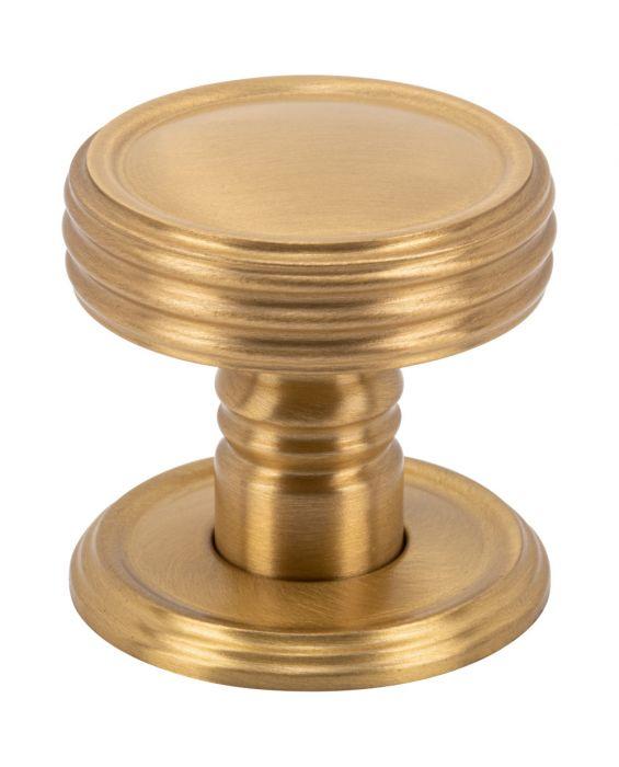 Divina Knob 1 1/2 Inch Satin Brass