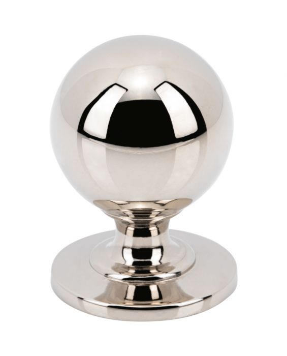 Divina Round Smooth Knob 1 Inch Polished Nickel