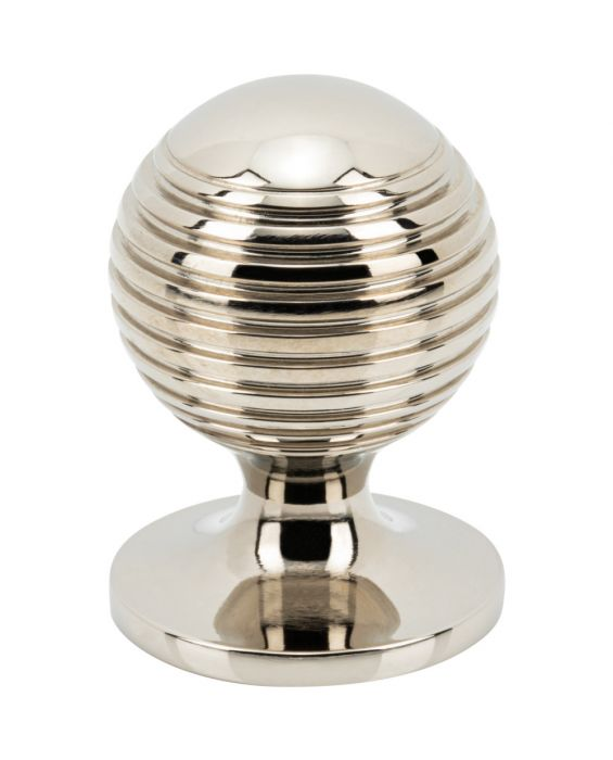 Divina Round Rimmed Knob 1 Inch Polished Nickel