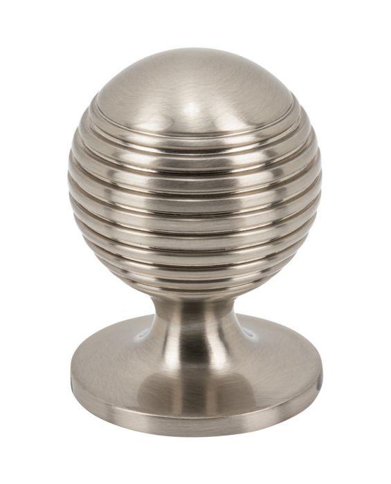 Divina Round Rimmed Knob 1 1/4 Inch Brushed Satin Nickel
