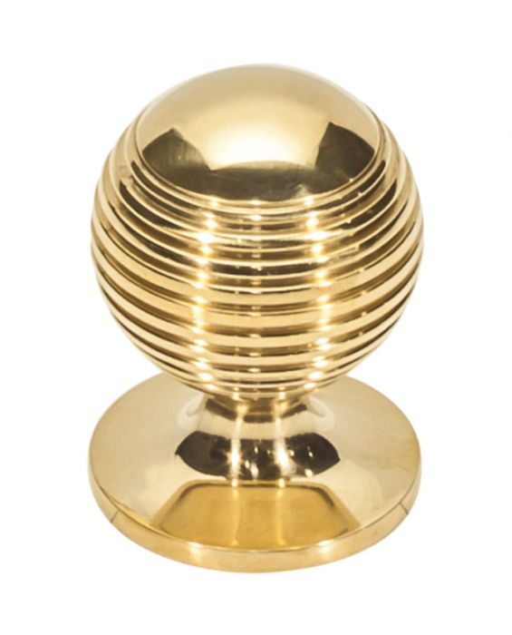 Divina Round Rimmed Knob 1 1/4 Inch Unlacquered Brass