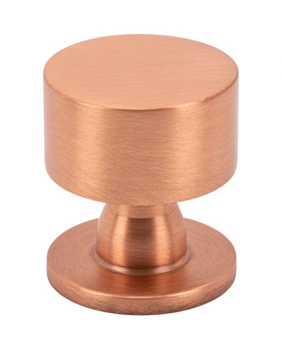 Dante Knob 1 1/8 Inch Satin Copper