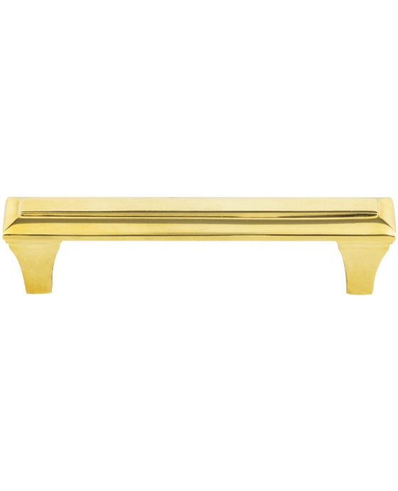 Alston Pull 3 3/4 Inch (c-c) Unlacquered Brass