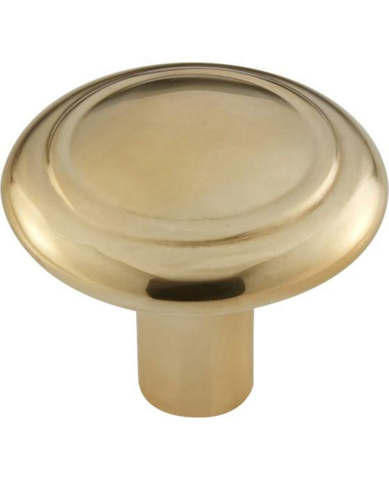 Cala Knob 1 5/16 Inch Unlacquered Brass