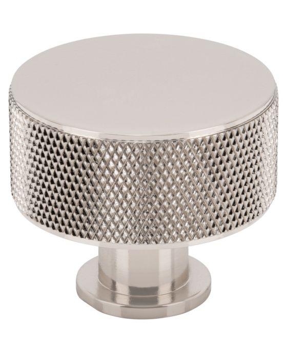 Beliza Cylinder Knurled Knob 1 3/8 Inch Polished Nickel