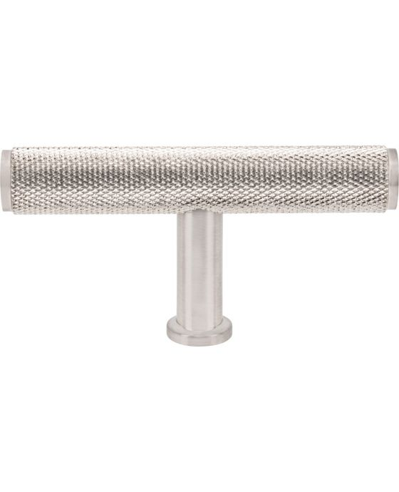 Beliza Knurled T Knob 2 3/4 Inch Brushed Satin Nickel