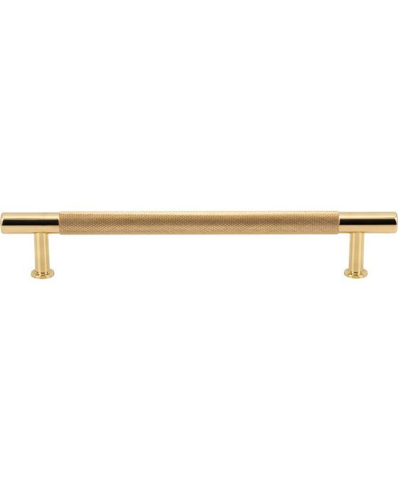 Beliza Knurled Bar Pull 6 5/16 Inch (c-c) Polished Brass