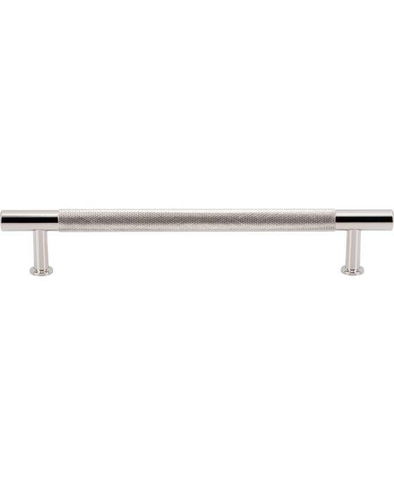 Beliza Knurled Bar Pull 6 5/16 Inch (c-c) Polished Nickel